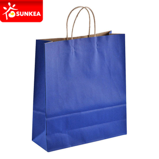 Custom Logo Printed Kraft Paper Shopping Bag