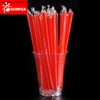 Straight Red Black Clear Thick Plastic Drinking Straw