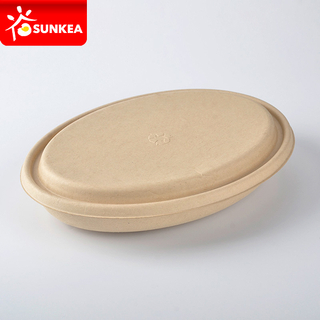 Biodegradable Eco Friendly Compostable Wheat Straw Yellow Pulp Food Bowls