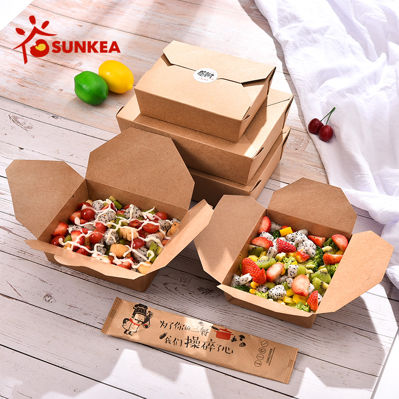 Sunkea manufacturer Takeaway lunch boxes Paper Food Container