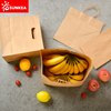 Patch Handle Take Away Kraft Paper Food Carrying Bag