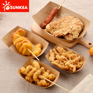 Sunkea Disposable Kraft Food Paper Tray for Fast Chicken