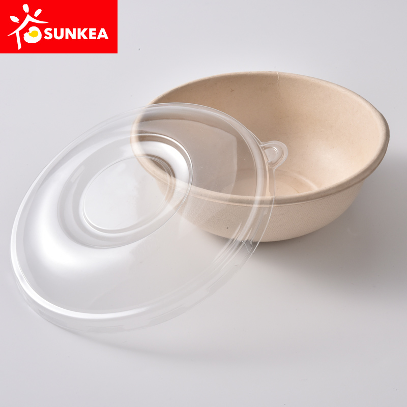 Eco friendly bamboo fiber bowl bamboo fiber pulp packaging