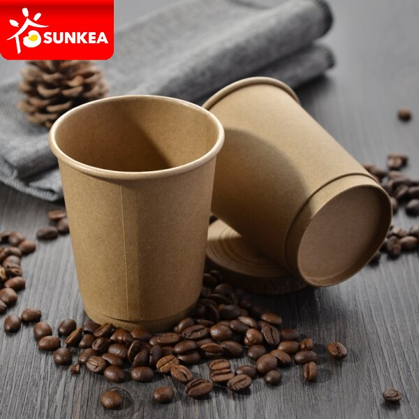 Double wall pure kraft coffee paper cup