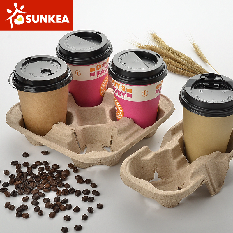 Paper Pulp Mould Coffee Cup Holder Carrier Buy Pulp
