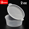 Transparent Disposable PP Plastic Sauce Cup with Hinged Lid