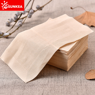 Custom made biodegradable brown paper napkin